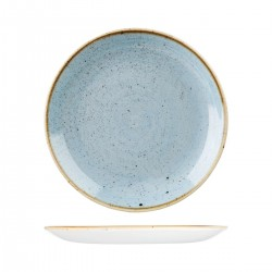 Round Coupe Plate 288mm Deep Duck Egg Churchill Stonecast (12)