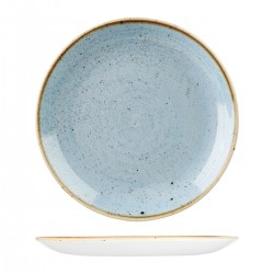 Round Coupe Plate 324mm Deep Duck Egg Churchill Stonecast (6)