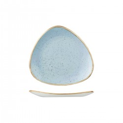 Triangular Plate 229 x 229mm Deep Duck Egg Churchill Stonecast (12)