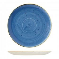 Round Coupe Plate 324mm Cornflower Blue Churchill Stonecast (6)