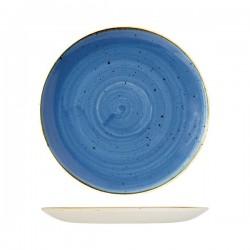 Round Coupe Plate 288mm Cornflower Blue Churchill Stonecast (12)