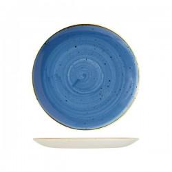 Round Coupe Plate 260mm Cornflower Blue Churchill Stonecast (12)
