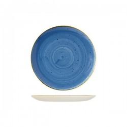 Round Coupe Plate 217mm Cornflower Blue Churchill Stonecast (12)