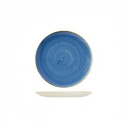 Round Coupe Plate 165mm Cornflower Blue Churchill Stonecast (12)