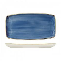 Oblong Plate 350 x 185mm Cornflower Blue Churchill Stonecast (6)