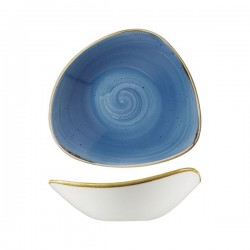 Triangular Bowl 230 x 230mm / 600ml Cornflower Blue Churchill Stonecast (6)
