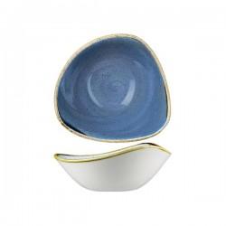 Triangular Bowl 185 x 185mm / 370ml Cornflower Blue Churchill Stonecast (12)