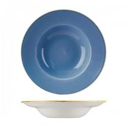 Soup / Pasta Bowl 280mm / 268ml Cornflower Blue Churchill Stonecast (12)