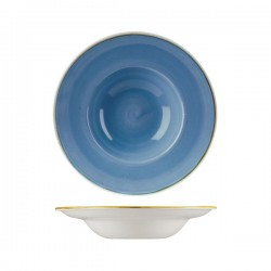 Soup / Pasta Bowl 240mm / 284ml Cornflower Blue Churchill Stonecast (12)