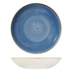 Round Coupe Bowl 310mm / 2400ml Cornflower Blue Churchill Stonecast (6)