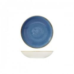 Round Coupe Bowl 182mm / 426ml Cornflower Blue Churchill Stonecast (12)