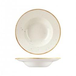 Soup / Pasta Bowl 240mm / 284ml Wide Rim Barely White Churchill Stonecast (12)