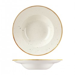 Soup / Pasta Bowl 280mm / 268ml Wide Rim Barely White Churchill Stonecast (12)