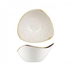 Triangular Bowl 153 x 153mm / 260ml Wide Rim Barely White Churchill Stonecast (12)