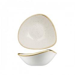 Triangular Bowl 185 x 185mm / 370ml Wide Rim Barely White Churchill Stonecast (12)