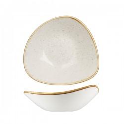 Triangular Bowl 235 x 235mm / 600ml Wide Rim Barely White Churchill Stonecast (6)