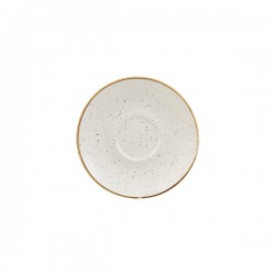 Cappuccino Saucer 156mm Barely White Churchill Stonecast (12)