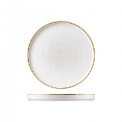 Chefs Plate 260 x 20mm Walled Barely White Churchill Stonecast (6)
