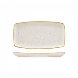 Oblong Plate 295 x 150mm Barely White Churchill Stonecast (12)