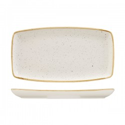 Oblong Plate 350 x 185mm Barely White Churchill Stonecast (6)