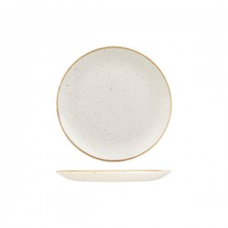 Round Coupe Plate 217mm Barely White Churchill Stonecast (12)
