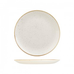 Round Coupe Plate 260mm Barely White Churchill Stonecast (12)