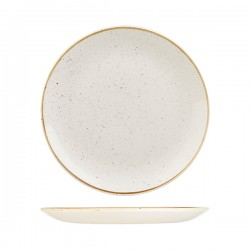 Round Coupe Plate 288mm Barely White Churchill Stonecast (12)