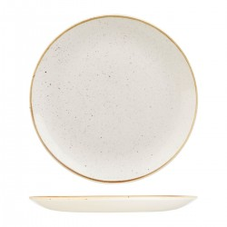 Round Coupe Plate 324mm Barely White Churchill Stonecast (6)