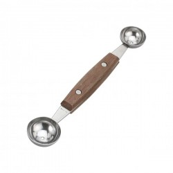 Chef Inox Melon Baller 18/8 Wood Handle Double Ended