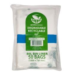 Bin Liner Biodegradble 80lt Clear Envirochoice (250)