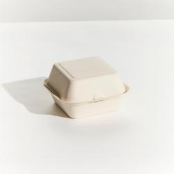 Sugarcane Burger Clam 156x158x38mm Natural (400)