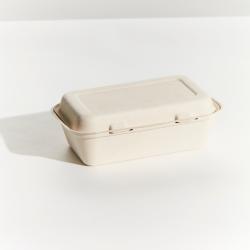 Sugarcane Snack Box Regular 214x140x53mm Natural (250)