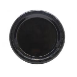 """Genfac 7"""" Plastic Plate Black (500)"""