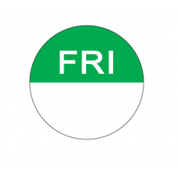 Food Safety Label 25mm Round Removable Friday (1000)