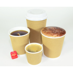 Paper Coffee Cup 12oz Corrugated Natural Brown (500)