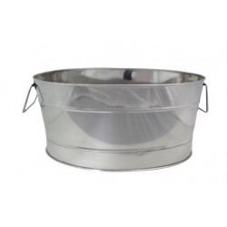 Oval 520 x 360 x 245mm Beverage Tub Stainless Steel Mirror Finish Chef Inox
