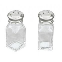 Salt & Pepper Shaker Square Glass 60ml (12)