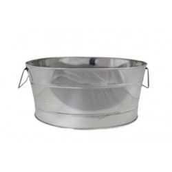 Oval 600 x 420 x 280mm Beverage Tub Stainless Steel Mirror Finish Chef Inox