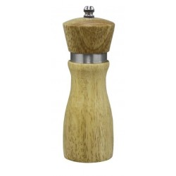 "Chef Inox Mill - Salt / Pepper Ceramic Gear 155mm Mondo"" Birch Wood"""