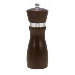 "Chef Inox Mill - Salt / Pepper Ceramic Gear 155mm Mondo"" Dark Wood"""