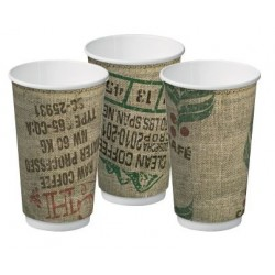 Cast Away Double Wall Cup Jute 16oz / 460ml (500)
