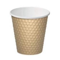 Cast Away Dimple Paper Hot Cup 8oz / 280ml Brown (500)
