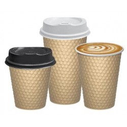 Cast Away Dimple Paper Hot Cup 12oz / 355ml Brown (500)