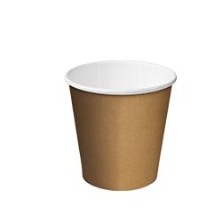 Cast Away Single Wall Paper Hot Cup 4oz / 118ml Kraft Brown (1000)