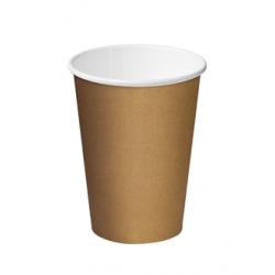 Cast Away Single Wall Paper Hot Cup 12oz / 355ml Kraft Brown (1000)