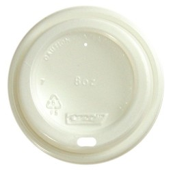 Capri Plastic Lid Cool Grip 8oz White (1000)