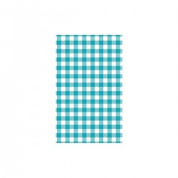 Moda Greaseproof Paper Gingham Teal 190 x 310mm (200/10)
