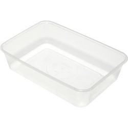 Capri Container Plastic Rectangular 175x120x40mm 500ml (500)