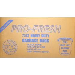 Pro Fresh Bin Liner Heavy Duty 72lt Black (200)