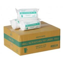 Bin Liner Kitchen Tidy 18lt Roll Pack White (1000)